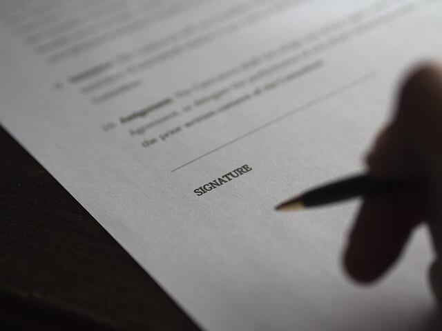 Umowa pożyczkowa przed złożeniem podpisu